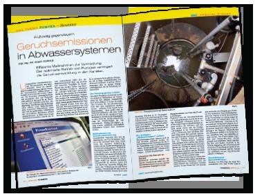 """""""Geruchsemissionen in Abwassersystemen"""" - Artikel von Jürgen Reinold"""